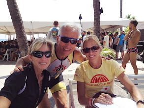 Photo: The Queen of Kona - 8 Time World Champ Paula Newby-Fraser and 1997 World Champ Heather Fuhr
