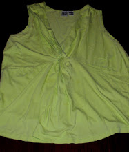 Photo: Lime Green Twist Front Tank Top that cascades down front. Cute on, but hard to photograph. Size 1X Duo Maternity $3