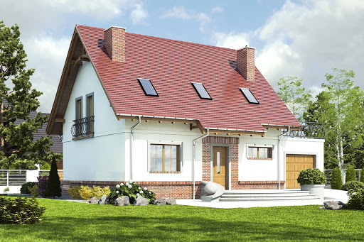 projekt Sosnówka II z garażem 1-st. A