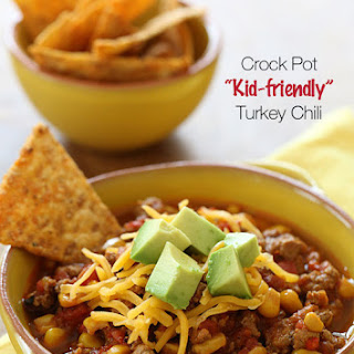 Crock Pot Kid-Friendly Turkey Chili.