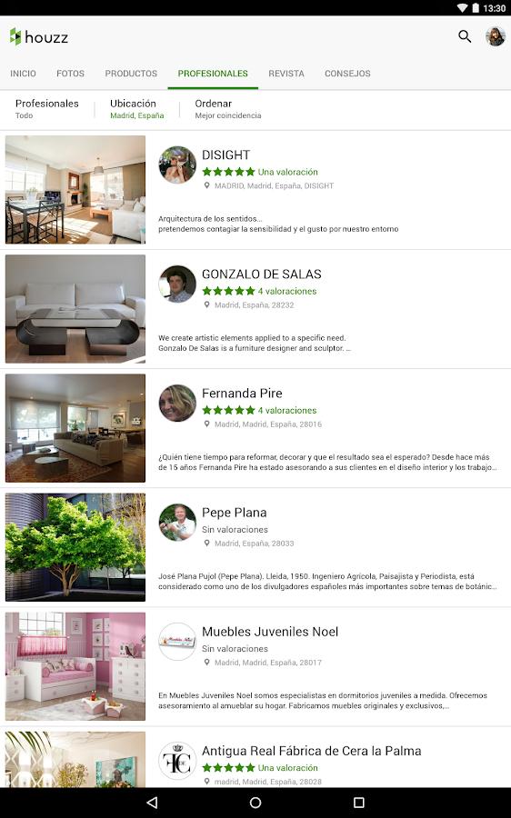 Houzz Decoración para tu hogar: captura de pantalla
