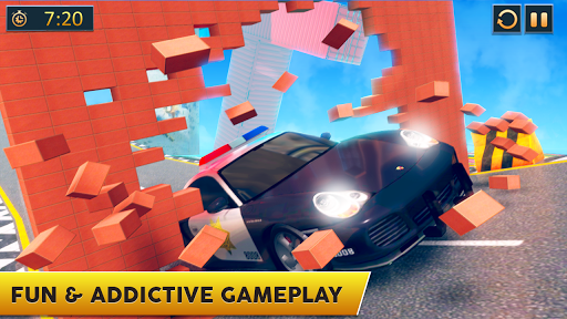 Ramp Police Car Stunts - New Car Racing Games screenshot 5