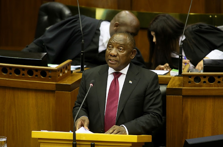 President Cyril Ramaphosa responds to questions in Parliament, Cape Town during the Q&A session on Wednesday, August 22 2018.
