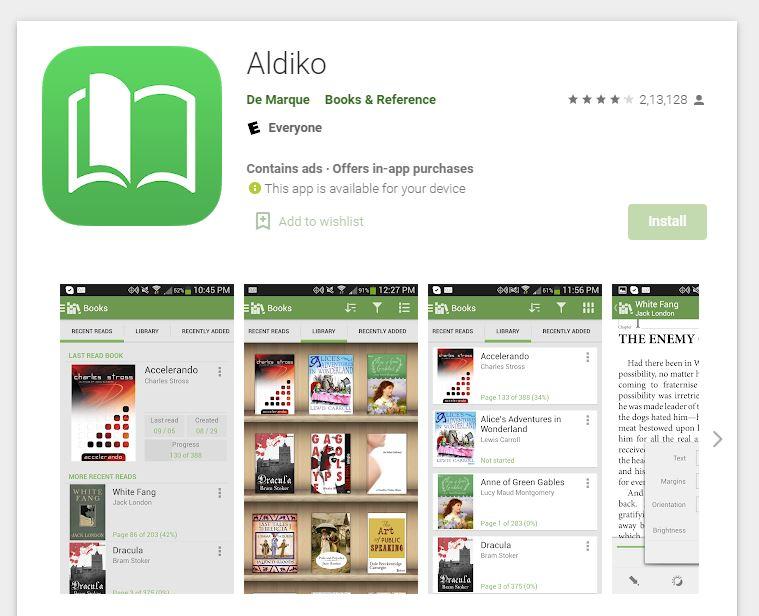 ePub Reader - Aldiko