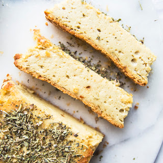 Baked Herbed Cashew Cheese.