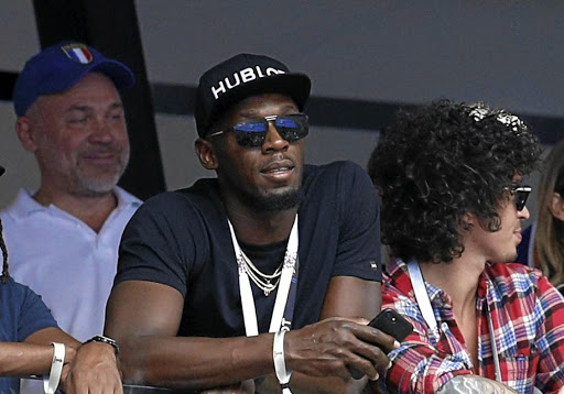 Usain Bolt in the stands at Moscow's Luzhniki Stadium ahead of the France-Croatia Soccer World Cup final on July 15 2018. Picture: REUTERS