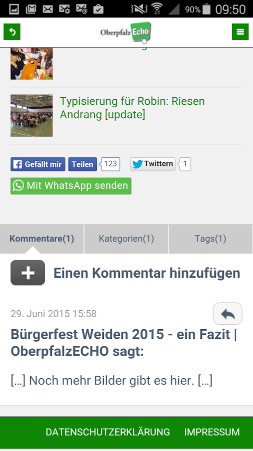 OberpfalzECHO News Weiden- screenshot