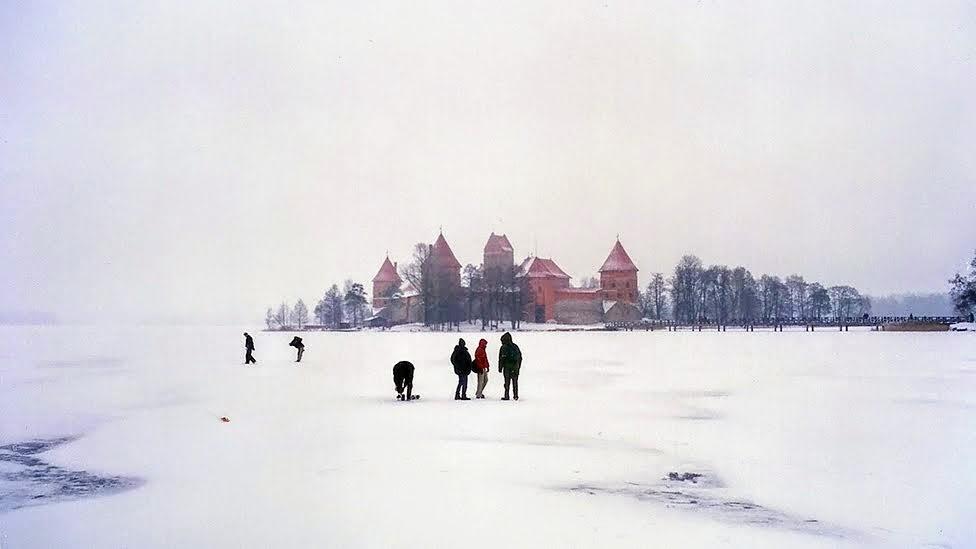 Troki, Trakai, Zamek na wyspie, zima