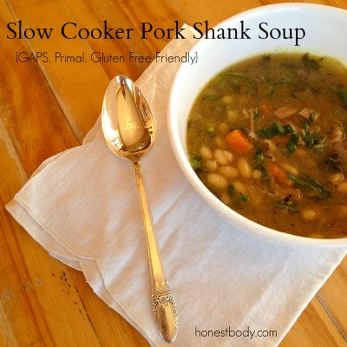 Slow Cooker Pork Shank Soup