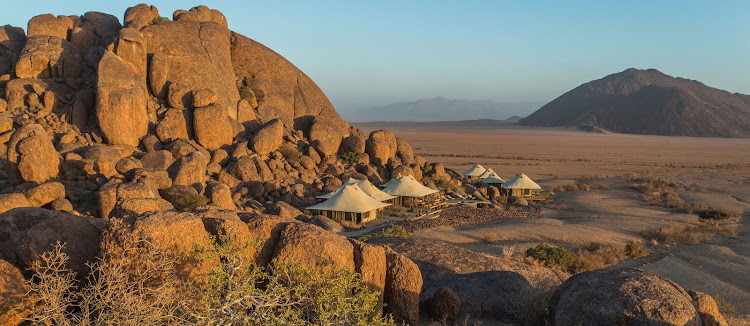 Wolwedans Collection Boulders Safari set amongst giant boulders of the Namib.