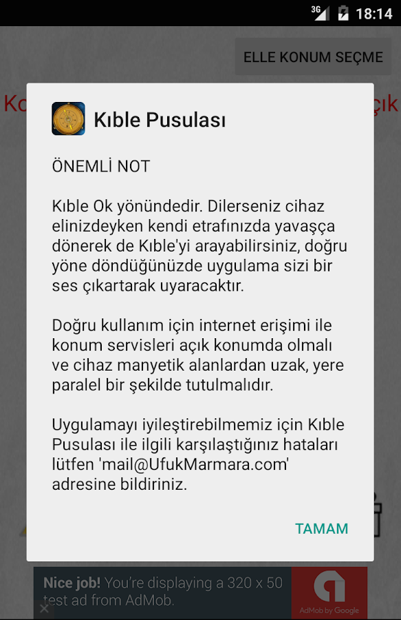 Kıble Pusulası- screenshot