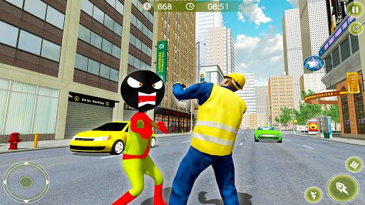 Stickman Crime City War - Stick Rope Hero Game 3 screenshots 4