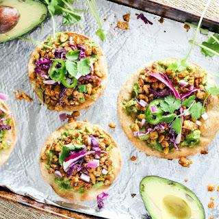 Easy Baked Avocado Tempeh Tostadas.