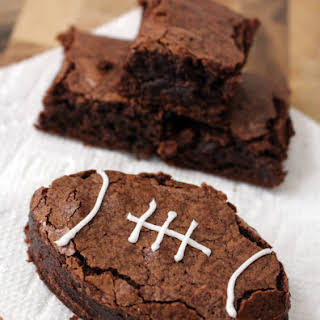 Football Brownies from Scratch.