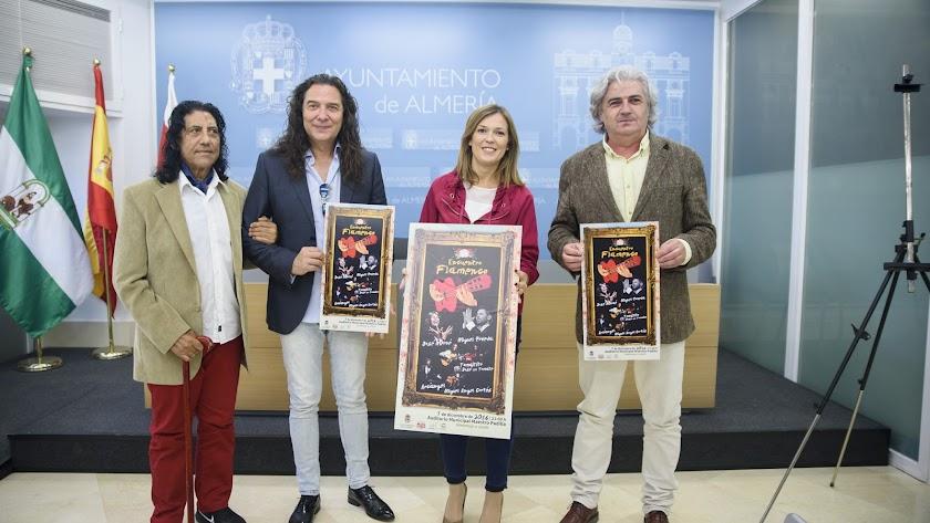 Presentación del encuentro con Josele,Tomatito, Ana M. Labella y Antonio Berbel.