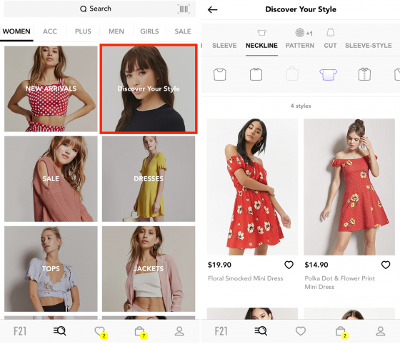 Forever 21 used deep tagging to implement visual searches