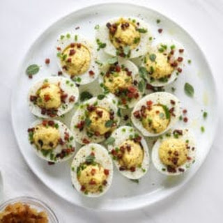 French Onion Deviled Eggs.