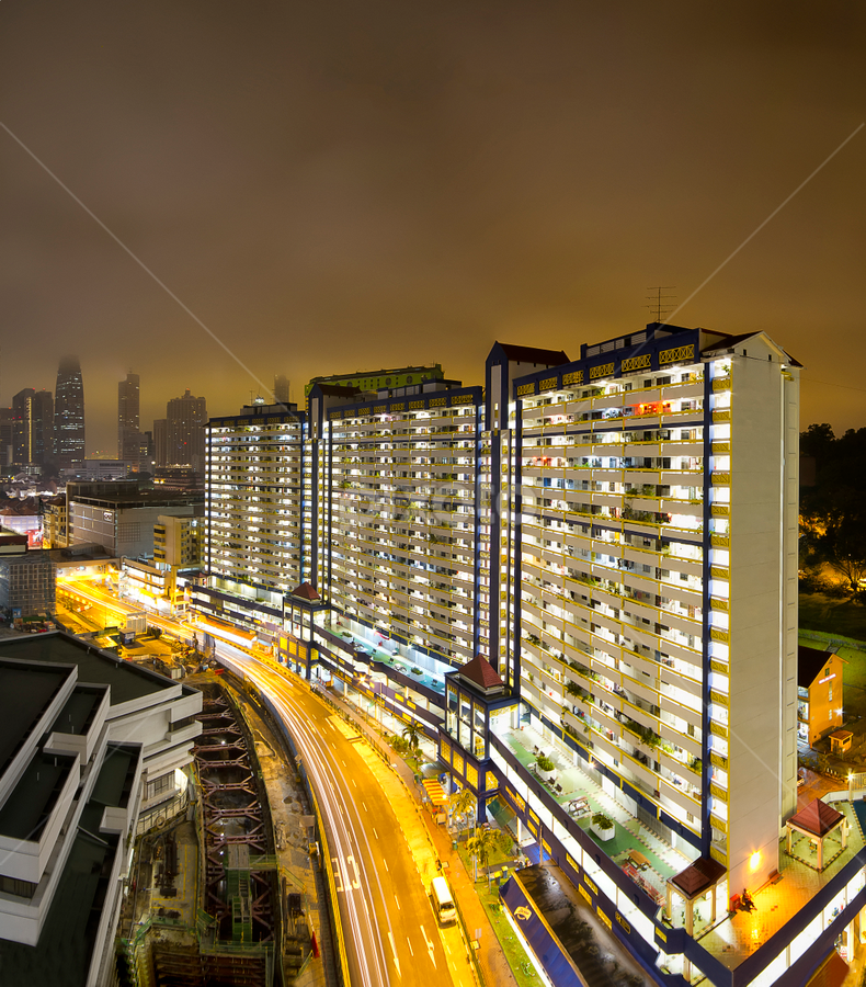 Drizzling Dawn by Dave Teo - City,  Street & Park  Neighborhoods