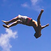 Cliff Jumping Diver