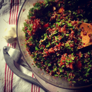A Simple Winter Salad; Quinoa Tabouli