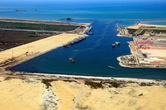 Photo: Vista aérea do canal de entrada do Terminal 2 do Porto do Açu