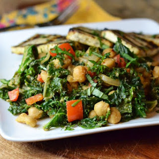 Cosmic Cashew Kale with Chickpeas