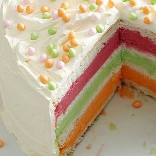 Layered Sherbet Cake
