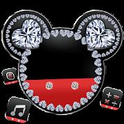 Diamond Mickey Minnie Valentine's Day theme. icon
