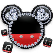 Diamond Mickey Minnie Valentine's Day theme.