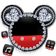 Diamond Mickey Minnie Valentine's Day theme. icon