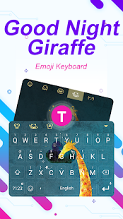 Good Night Giraffe Theme&Emoji Keyboard - náhled
