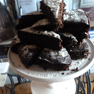 Low Carb Chocolate Flaxseed Flour Cake.