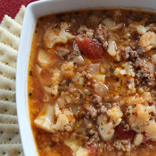 Hamburger Cauliflower Soup.