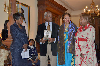 Photo: Cheryl Wills, NY1 News with Theodore and Jackie Charity, Honorees and Rev. Dr. Valerie Oliver-Durrah, Pres and CEO NTAC