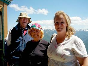 Photo: Don, Joanne, Alison at Hurricane Ridge