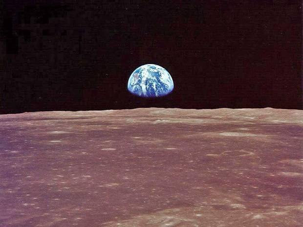 Photo: Earthrise: the image that changed our view of the planet  In the second part of our landmark series, Michael McCarthy travels back in time to Christmas Eve, 1968 – and the groundbreaking picture that transformed our attitude to a world we had hitherto taken for granted.  Read the full story at http://ind.pn/KNpQCR Picture credit: EPA