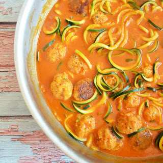 Zoodles with Turkey Meatballs.