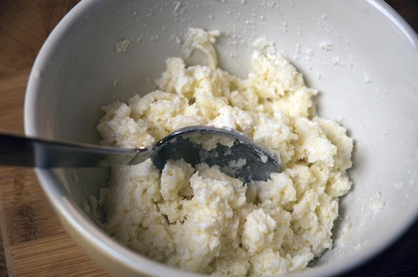 Combine the ricotta, Pecorino Romano (minus the 4 tablespoons that you reserved), and the...