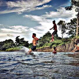 Ullaass by Jhilam Deb - Sports & Fitness Watersports ( play, water playe, children, jhilam deb, playin, dooars, dhupguri )