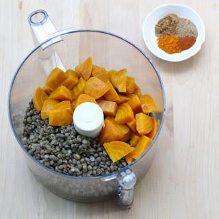 Beet and Lentil Hummus Dip.