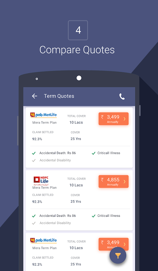 Compare Insurance-Policybazaar - Android Apps on Google Play