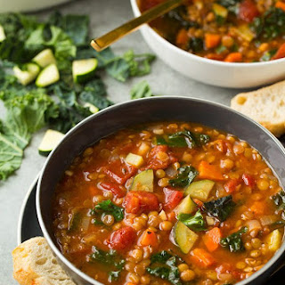 Italian Vegetable Lentil Soup.