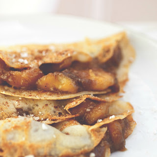 Bananas Foster Crepes.