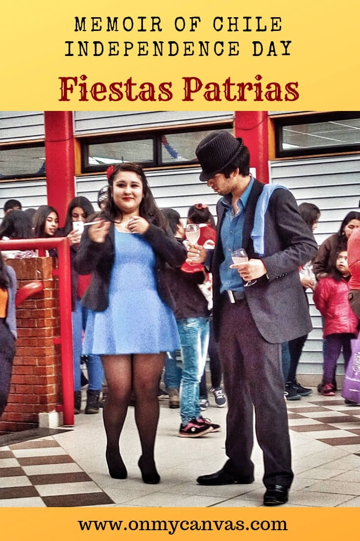cueca dance on fiestas patrias in castro chiloe in chile being used as pinterest image for fiestas patrias or chile independence day article