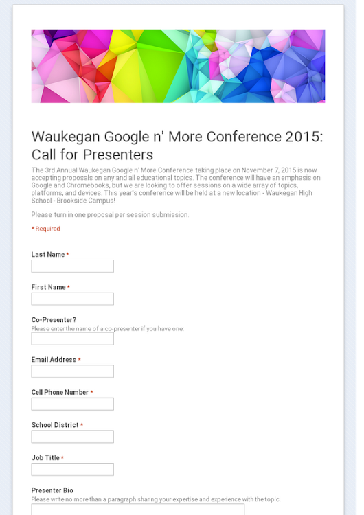 Waukegan Google n' More Conference 2015:  Call for Presenters