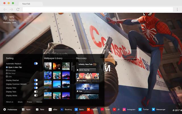 Spiderman HD Games New Tabs Theme