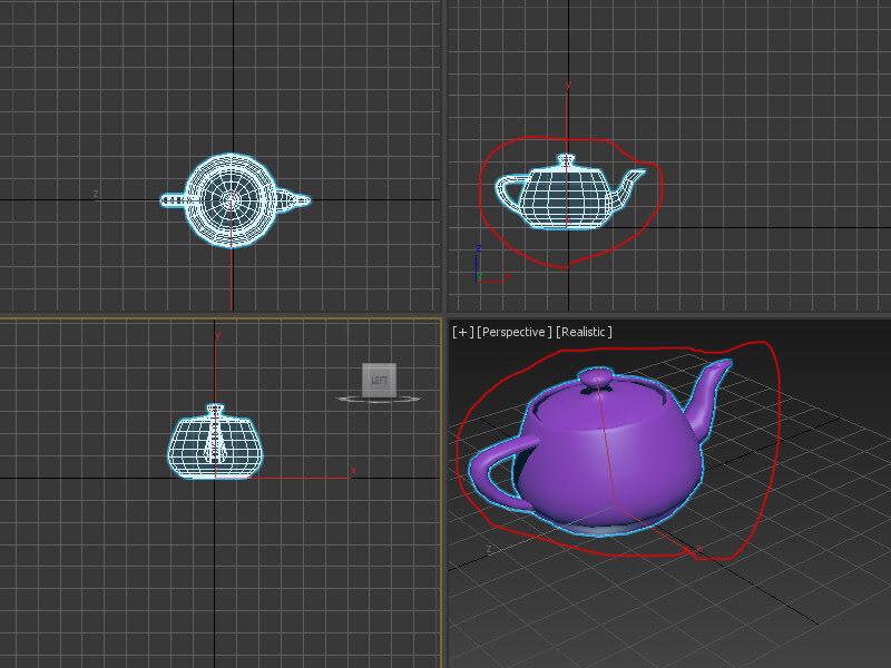 3DMAX視窗操作F3與F4的切換,這樣你也可以