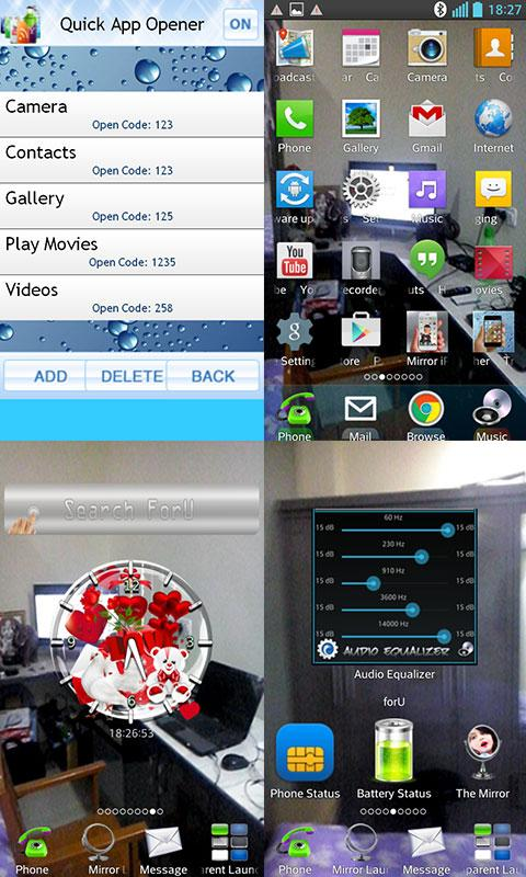 Transparent Screen Launcher- screenshot