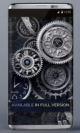 FREE Black Clock LiveWallpaper  screenshots 5