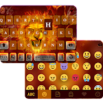 Fire Lion Emoji Keyboard Theme Icon